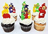 Teletubbies Birthday Cake Cupcake Topper Set Featuring Po and Friends