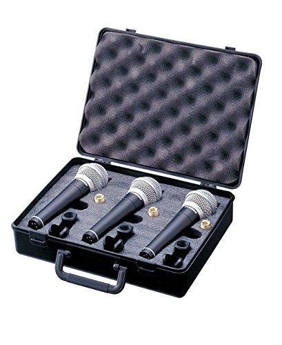 Samson Cardioide micrófonos dinámicos con Carry Case (Pack de 3)