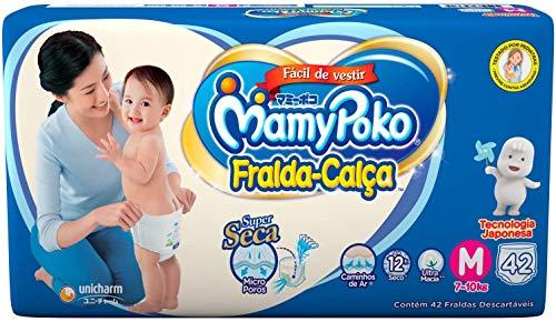 Fralda-Calça MamyPoko tamanho M, pacote contendo 42 unidades