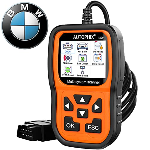 Professional OBD2 Scanner Code Reader for BMW Mini,AUTOPHIX 5900 Multi-Systems Diagnostic Scan Tool with ABS/Transmission/BMS/PCM/EPB/SAS/Oil Reset Battery Registration