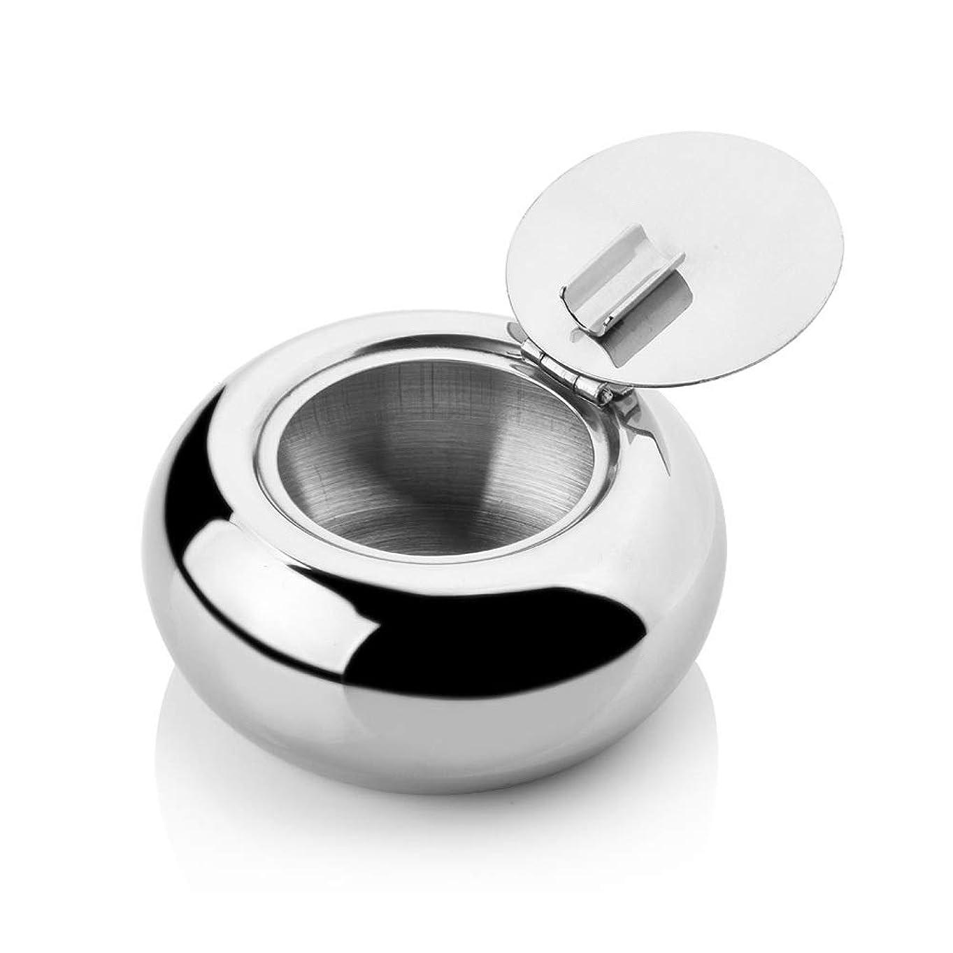 キャンペーンゴージャス篭ステンレス鋼の覆われた灰皿、屋内/屋外の普遍的な灰皿、きれいにすること容易防風の灰皿 (色 : L)