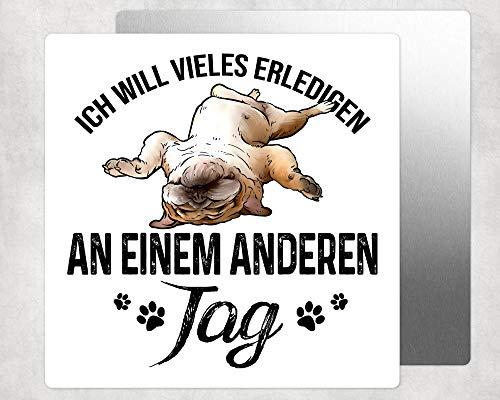Alu Fototafel Wandbild Hochglanz Deko mit Mops Pug Hund - inklusive Wandaufhängung