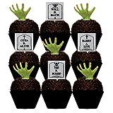 CakeSupplyShop Tombstones & Grabbing Hands Halloween Spooky -12pk...
