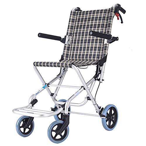 QINAIDI Leichter Rollstuhl für ältere Menschen mit Behinderung, zusammenklappbarer Reisetransportrollstuhl, 8