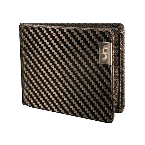 Common Fibers MAX - Real Carbon Fiber RFID Blocking Slim Bifold Mens Wallet with Twill Weave
