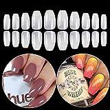 Coffin Fake Nails Tips Acrylic False Nail BTArtbox 600PCS Natural Artificial Full Cover Ba...