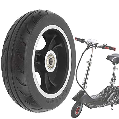 Rueda Maciza de 6 Pulgadas, neumático Macizo Caucho Duradero Resistente al Desgaste Portátil 145x4.0 para Scooters eléctricos para Scooters para carros para niños