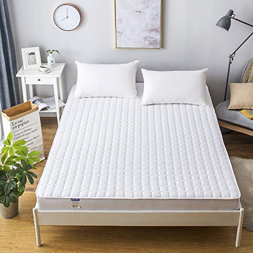 Hllhpc matrasbeschermer, gevoerd, antislip, effen, warme dromen