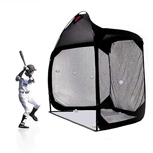 Kapler Baseball Cage Batting Cage Net Softball Hitting Cage Nets Backstop Baseball Screen Training Equipment Heavy Duty Netting for Pitching Pitchers Equipment Training Aids