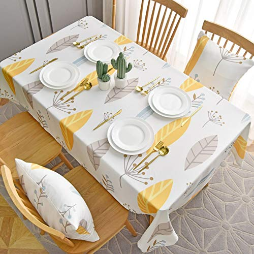LIUJIU Textiles para el hogar moderno estilo rústico vintage hecho a mano mantel encaje mantel bordado blanco manteles cubierta, 130 x 200 cm