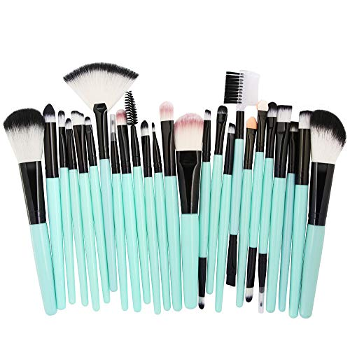 Cwemimifa Make-up-Pflegeset,25pcs Cosmetic Makeup Brush Blusher Eye Shadow Brushes Set Kit,D