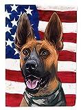 Caroline's Treasures CK6646CHF Plott Hound Bandera de Estados Unidos de lona tamaño grande, multicolor