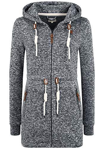 OXMO Thora Damen Fleecejacke Sweatjacke Jacke, Größe:L, Farbe:Black (799000)