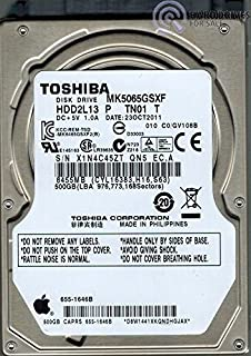 TOSHIBA MK5065GSXF 500 GB SATA 5400RPM 2.5 HDD