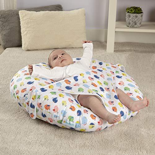 BANBALOO -Babynest nestchen- Babynestchen Kokon kuschelnest für Neugeborene - Babywippe-Baby Day Kissen - Baby Nest - Babyliege. Sitzsack Lagerungskissen Liege-Kuschelnest. (KLEINE VÖGEL)