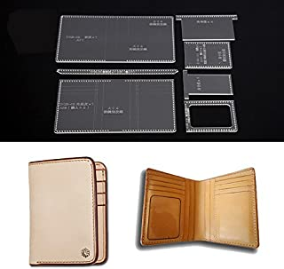 NW Multicard Slot Short Wallet Acrylic Template Wallet Leather Pattern Acrylic Leather Pattern Leather Templates for Bags