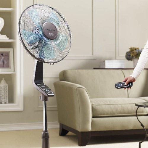 Rowenta VU5550 Turbo Silence Oscillating Fan, Standing Fan, 4 Speed Fan with Remote Control