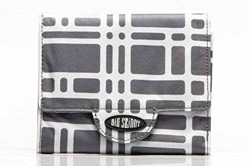 Big Skinny Women's Trixie Tri-Fold Slim Wallet, Holds Up to 30 Cards, Graphite Cobble