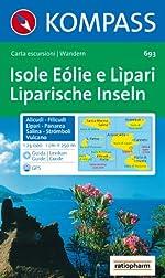 Carte touristique - Isole Eolie o Lipari de Cartes Kompass