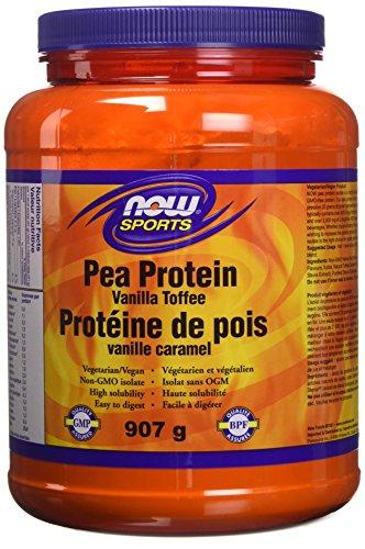 NOW Pea Protein, Non-GMO Vegan, Vanilla Toffee, 907 g