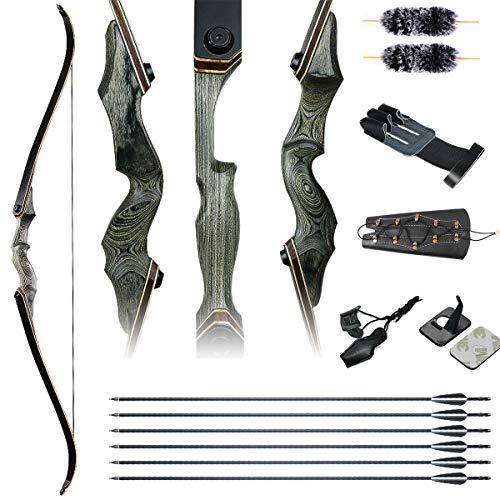IRQ Takedown Archery Recurve Bow Set –60' Hunting &...
