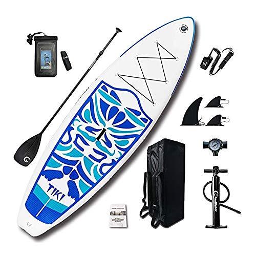 Tabla De Surf Inflable Soporte Inflable Tablas De Paddle Up 10'6 × 33 '× 6' SUP for Principiantes / Intermedio Con Paddle, Bomba, Mochila, Correa De Perro Estable ( Color : Blue , Size : 320x84x15cm )