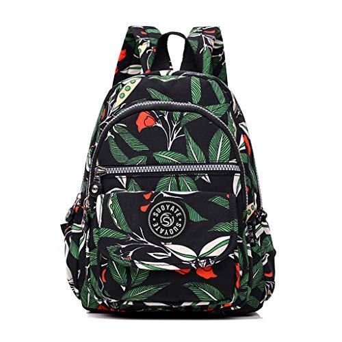 Pingtr - Daypack/Rucksack,Frauen Männer Mode Große Kapazität Rucksack Nylon Wasserdichte Reisetaschen Schultasche (LxBXH:23x3x30cm)