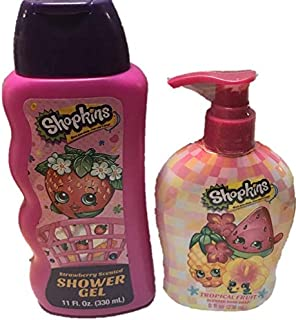 SHOPKINS BATH CARE BUNDLE of 2 shower gel and Hand soap