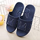 MDCGL Zapatillas De BañO Zapatillas Antideslizantes de plástico para baño en casa para Mujer, Zapatos de Ducha de Hotel para Parejas, Chanclas para casa para Hombres, Azul Marino EU43-44
