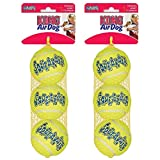 KONG Air Squeaker Tennis Balls 3 balls Size:Medium Packs:Pack of 2