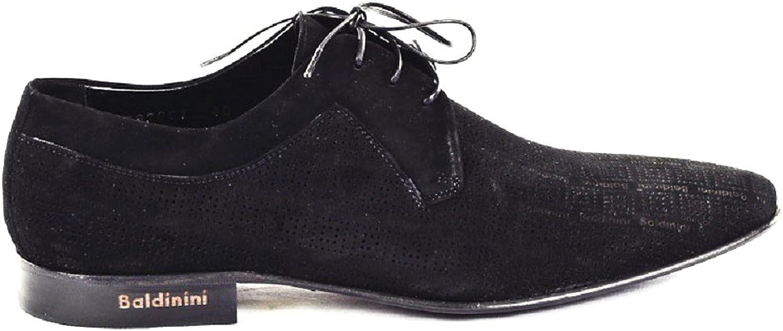 Baldinini 2309 Black Suede Italian Designer Men Loafers