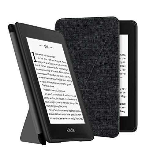 OLAIKE Estuche de Tela para Kindle Paperwhite (10a generación, Versiones 2018) E-Reader, Cubierta de pie Compatible con Lectura Manos Libres con activación/suspensión automática, Gris Oscuro