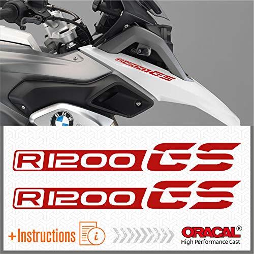 Black Doves Graphics 2pcs Aufkleber kompatibel für Motorrad R1200 GS BMW Motorrad R 1200 R1200GS (red)