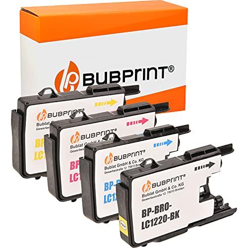 4 Bubprint Druckerpatronen kompatibel für Brother LC-1220 LC-1240 für DCP-J525W DCP-J725DW DCP-J925DW MFC-J430W MFC-J5910DW MFC-J625DW MFC-J6510DW MFC-J6710DW MFC-J6910DW MFC-J825DW Multipack