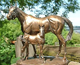6103 STUNNING COLD CAST BRONZE MARE & FOAL 'PROTECTION' BY D GEENTY by David Geenty