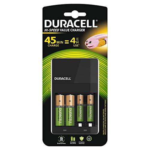 Duracell Value Ladegerät AA CEF14 EV mit 2 x AA und 2 x AAA Akkus