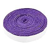 10M Raqueta de Tenis de bádminton Antideslizante Toalla de algodón Agarre Toalla Grande Carrete Empuñadura Roll Overgrip Cinta de Sudor Cintas absorbentes (Color : Purple)