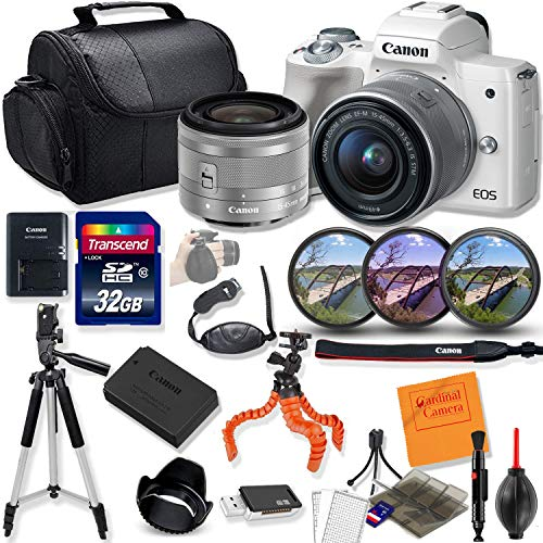 Canon EOS M50 Mirrorless Digital Camera with 15-45mm STM Lens Kit