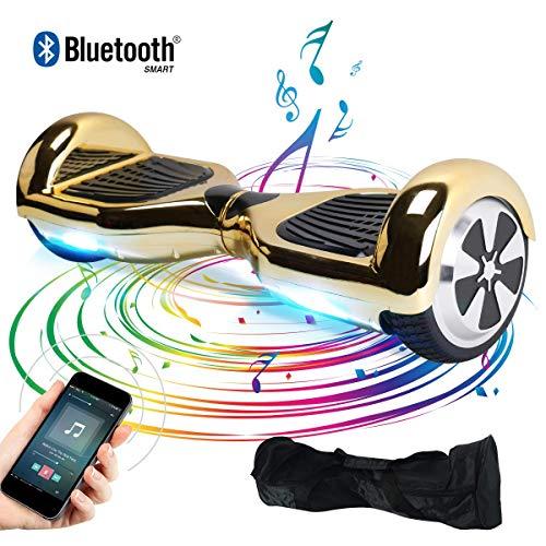 Windgoo Hoverboard, 6.5 Zoll Self Balance Scooter mit Bluetooth Lautsprecher, LED Lights Elektro Scooter E-Skateboard