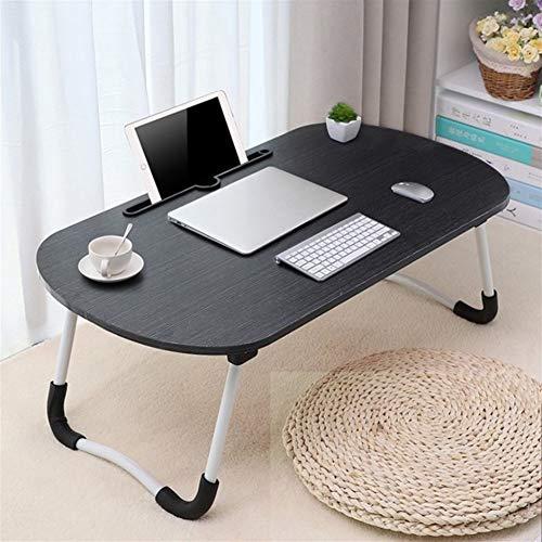 LVMEIHUA Tafel/bureau, computertafel, tafel/bureau, inklapbaar, voor studenten en studenten, laptopbase, voor binnen, voor tweepersoonsbed, 70 x 40 x 28 cm