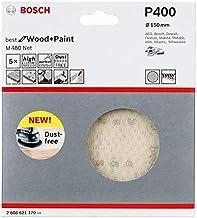 Bosch Professional 5 Stuks Schuurblad M480 Best for Wood and Paint (hout en verf, Ø 150 mm, korrelgrootte K400, accessoire...