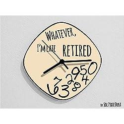 Whatever, I'm Late Retired/Oval Beige - Wall Clock