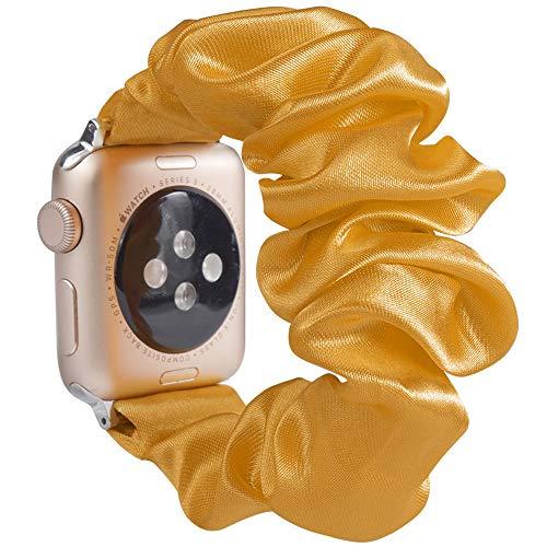 Miimall - Correa de reloj para Apple Watch Serie 1, 2, 3, 4, 5, 44 mm, 42 mm, color amarillo