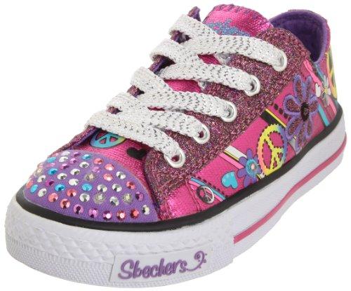 26a0f6ade1b Save 25% Skechers Lights Jump And Joy Lighted Sneaker (Little Kid/Big  Kid),Hot Pink/Lavender,3 M US Little Kid For Sale