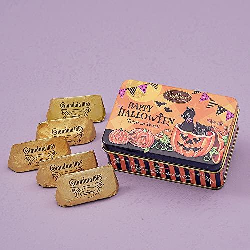 カファレル Caffarel ハロウィン・ジャンドゥーヤ 黒猫&かぼちゃ缶 チョコレート 5粒入り ブランド袋付
