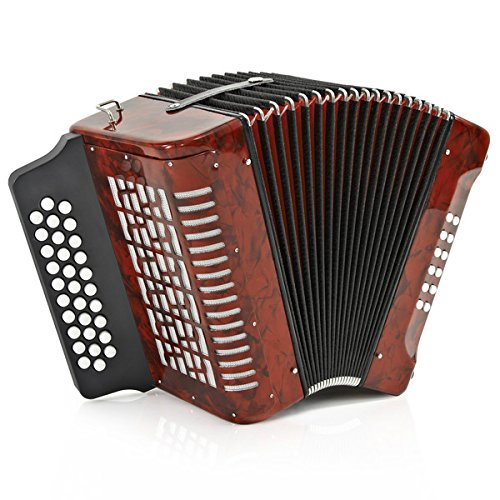 Accordeon Diatonique a  Boutons par Gear4music 12 Basses