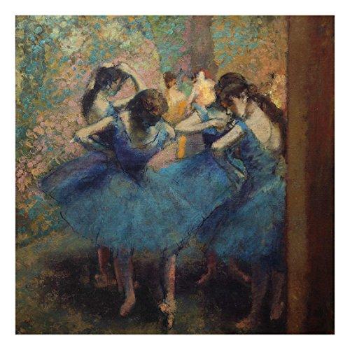 Cuadro de Cristal Edgar Degas Los Bailarines Azules 1:1Tamaño: 50cm x 50cm
