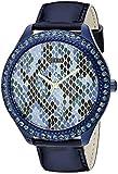 GUESS U0625L3 - Reloj icónico con estampado de pitón azul índigo