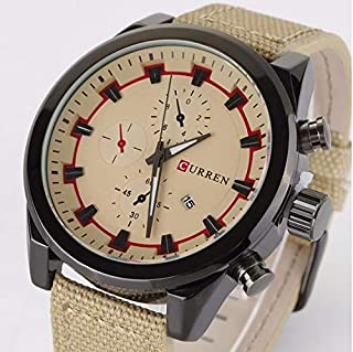 CURREN Casual Watch For Men Analog Leather - 8196