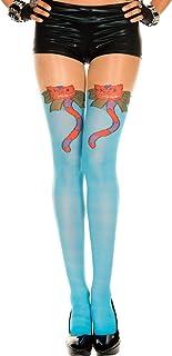 Music Legs Music Legs - Strumpfhose in blau mit Katzenmuster